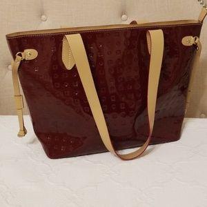 Arcadia, Italy patent leather handbag